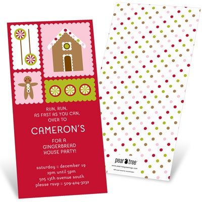 Gingerbread Lane Holiday Party Invitations