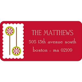 Gingerbread Lane -- Christmas Address Labels