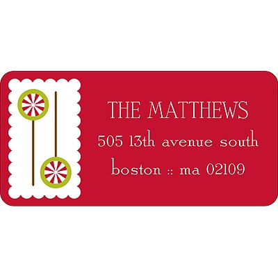 Gingerbread Lane Christmas Address Labels