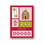 Gingerbread Lane -- Kids Thank You Card