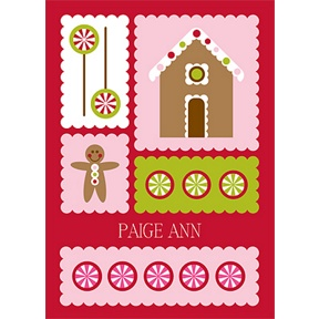 Gingerbread Lane -- Christmas Thank You Cards