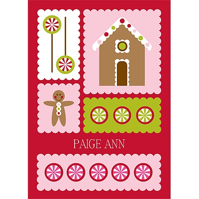 Gingerbread Lane Christmas Thank You Cards