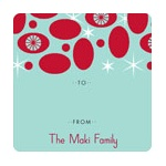 Ornamental in Red -- Christmas Gift Stickers