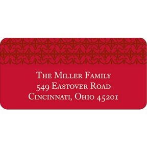 Classical Red Delight -- Christmas Address Labels