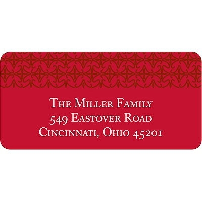 Classical Red Delight Christmas Address Labels