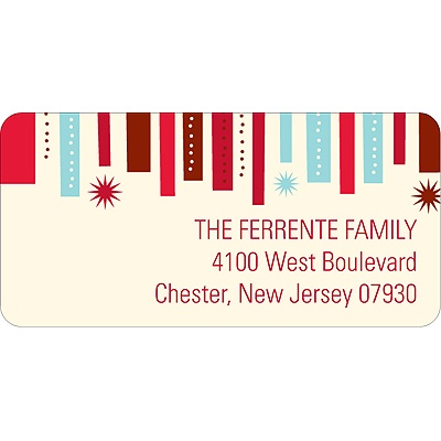 Christmas Ribbon -- Christmas Address Label