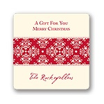 Chic Pattern -- Christmas Gift Stickers