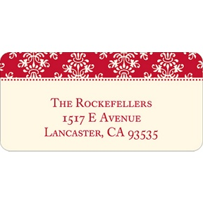 Chic Pattern -- Christmas Address Labels