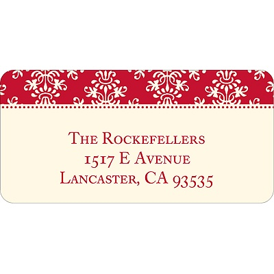 Chic Pattern Christmas Address Labels