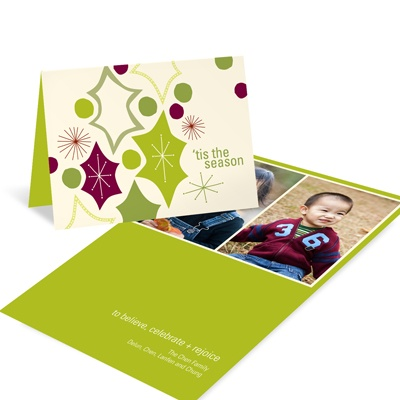 Playful Christmas Leaves -- Christmas Card