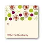 Playful Stars -- Christmas Gift Stickers