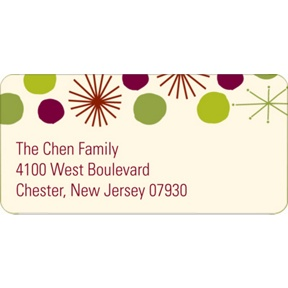 Playful Stars -- Christmas Address Labels