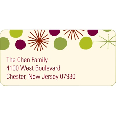 Playful Stars Christmas Address Labels