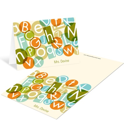 Alphabet Bash Mini Note Cards Teacher Stationery