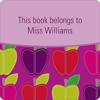 Mod Apples -- Purple Book Sticker