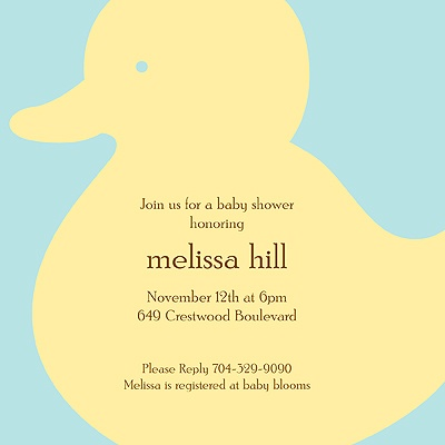 Quack! Baby Shower Invitations
