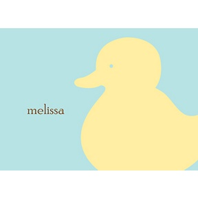 Quack! -- Personalized Note Card