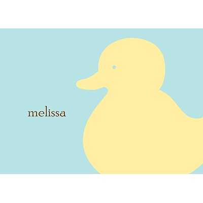 Quack! Personalized Note Card
