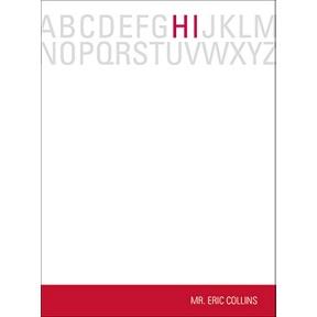 Alphabet Hello in Red -- Teacher Stationery