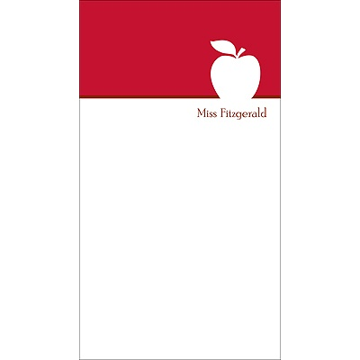 Apple A Day -- Personalized Note Card
