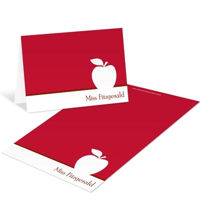 Aligned Apple -- Teacher Personalized Notelettes