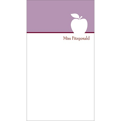 Apple A Day In Purple Teacher Stationery