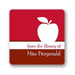 Apple A Day -- Red Book Sticker