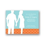 Togetherness -- Orange Baby Shower Invitations