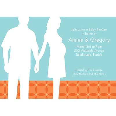 Togetherness Orange Baby Shower Invitations