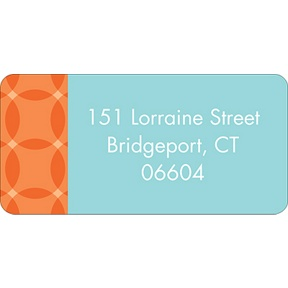 Togetherness Orange -- Baby Address Labels