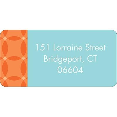 Togetherness Orange Baby Address Labels