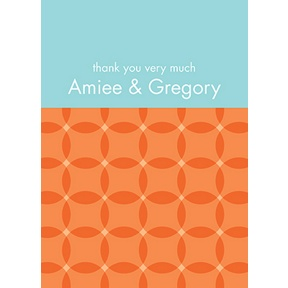 Togetherness -- Orange Personalized Note Card