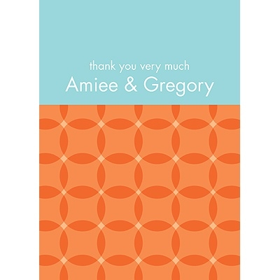 Togetherness Orange Personalized Note Card