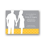 Togetherness -- Yellow Baby Shower Invitations