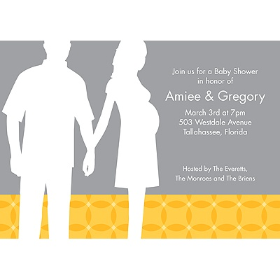 Togetherness Yellow Baby Shower Invitations