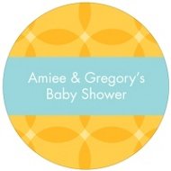 Togetherness Yellow Stickers Baby Shower Favor Tags