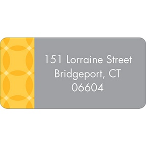 Togetherness Yellow -- Baby Address Labels
