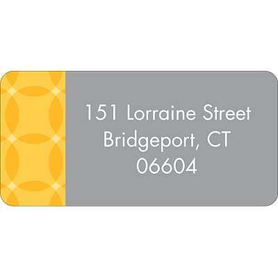 Togetherness Yellow Baby Address Labels