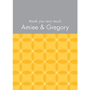 Togetherness -- Yellow Personalized Note Card