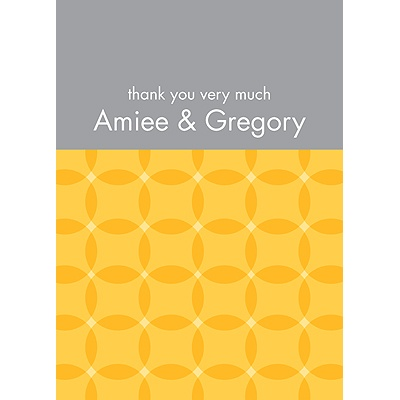 Togetherness Yellow Personalized Note Card