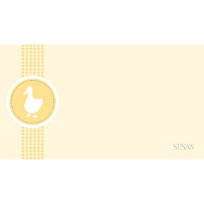 Ducky -- Personalized Note Card