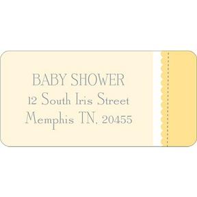 Dot Dot Duck -- Baby Address Labels