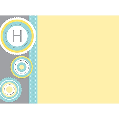 Scalloped Circles Personalized Note Card