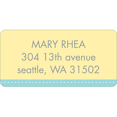 Scalloped Circles Address Label