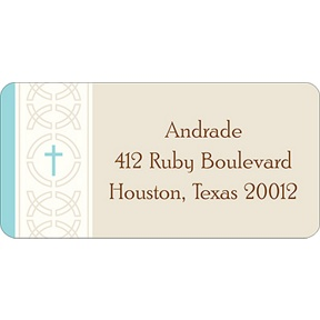 Circle of Faith -- Blue Address Label