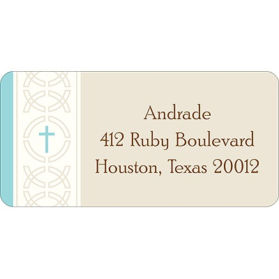Circle of Faith Blue Address Label