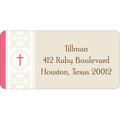 Circle of Faith -- Pink Address Label