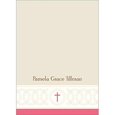Circle of Faith Pink Personalized Note Card