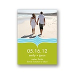 Elegant Swirls -- Photo Save the Date Cards