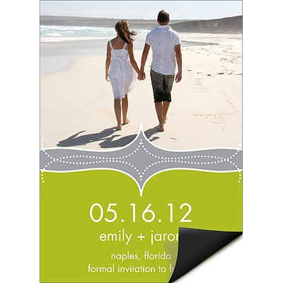 Elegant Swirls -- Photo Save the Date Magnets